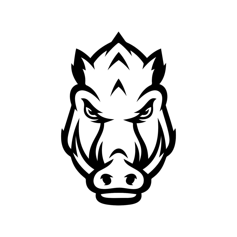 Arkansas Razorbacks Head Football Graphics By Vectordesign