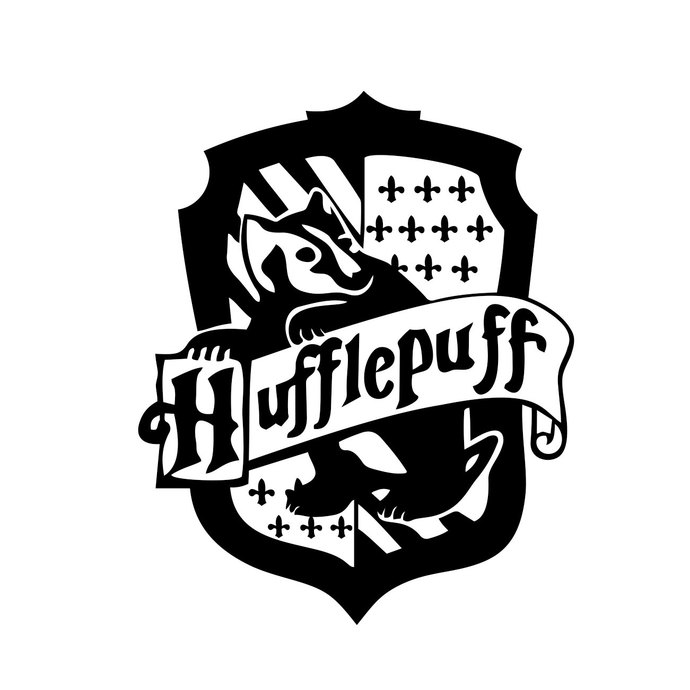 Hufflepuff Harry Potter House Badge Crest by vectordesign