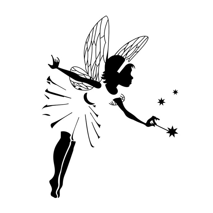 Fairy magic star graphics design SVG, DXF, by vectordesign
