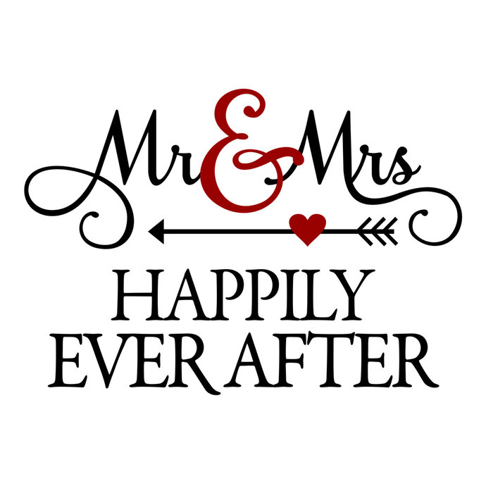 Mr and Mrs Happily Ever After graphics design by vectordesign on