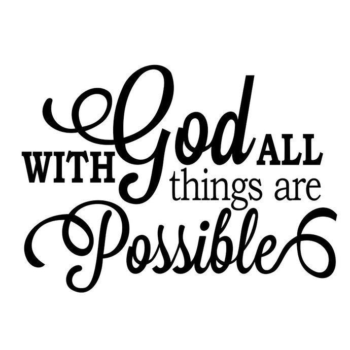 With God All Things are Possible Phrase by vectordesign on