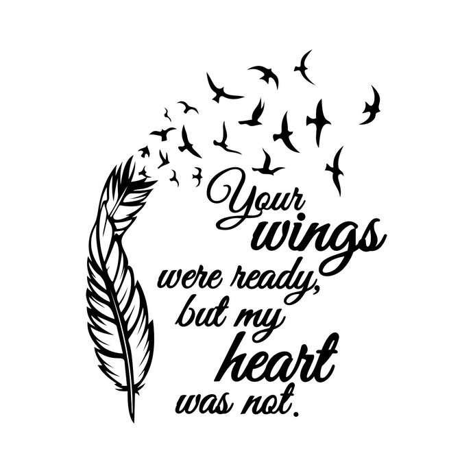 Wings Were Ready But My Heart Graphics Design By Vectordesign On