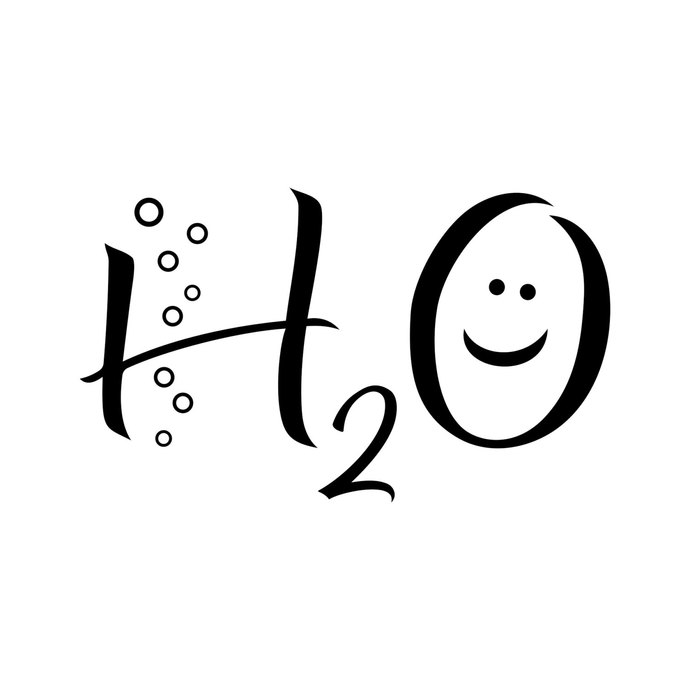 H2O Water Chemical graphics design SVG DXF by vectordesign