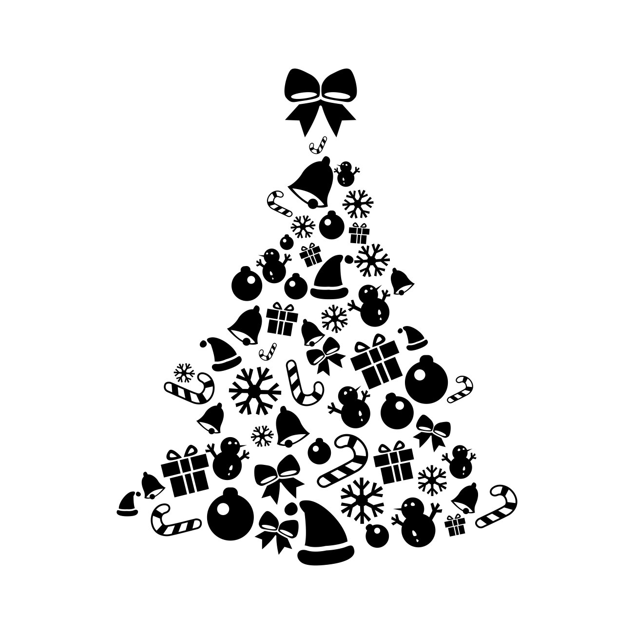 Christmas Tree Elements Graphics Design Svg By