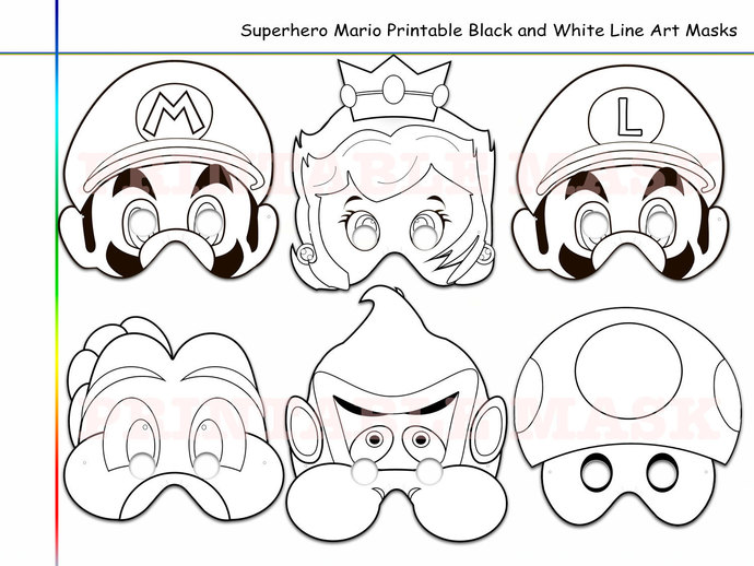 Coloring Pages Superhero Mario Printable by