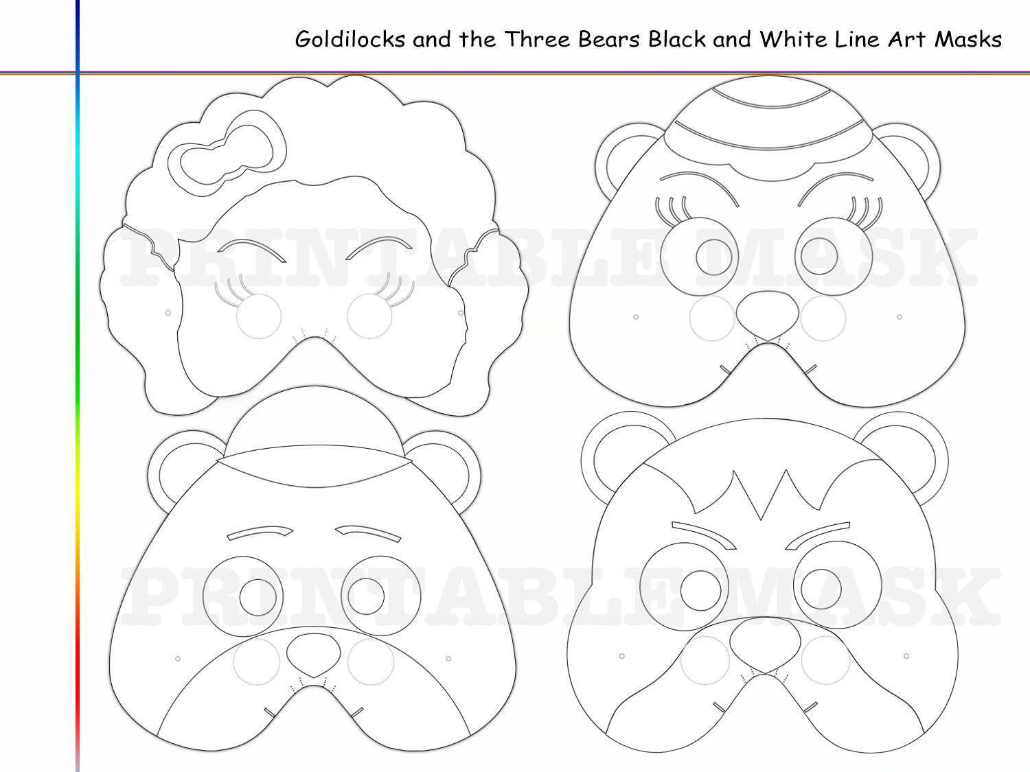 Coloring Pages Goldilocks and the Three by