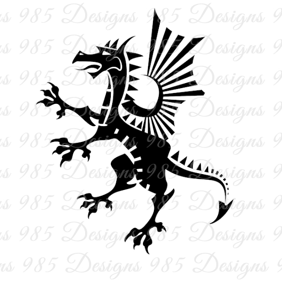 Abstract Dragon SVG for Cricut and by 985 Graphic Designs