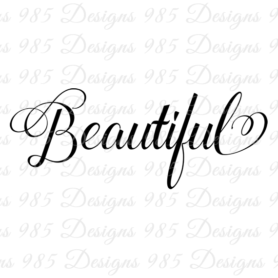 Beautiful Script Word SVG for Cricut by 985 Graphic
