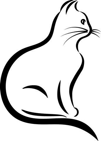 Cat Outline SVG for Cricut and by 985 Graphic Designs on