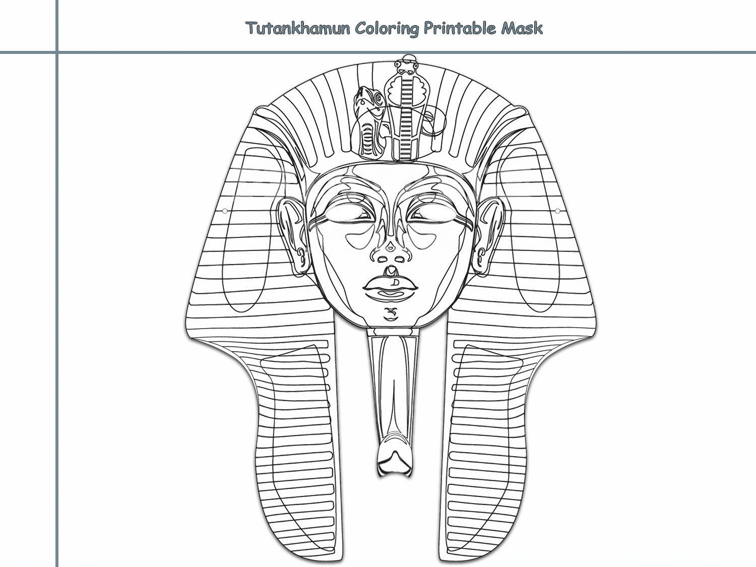 Coloring Pages Tutankhamun Printable by HolidayPartyStar