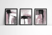 Abstract Art, Set of 3 Prints, Black and White and by ...