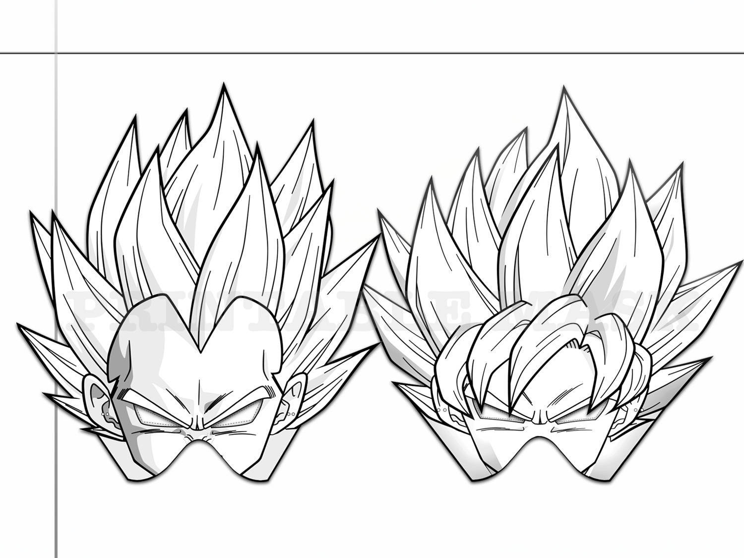 Coloring Pages Dragon Ball Z Party by HolidayPartyStar on