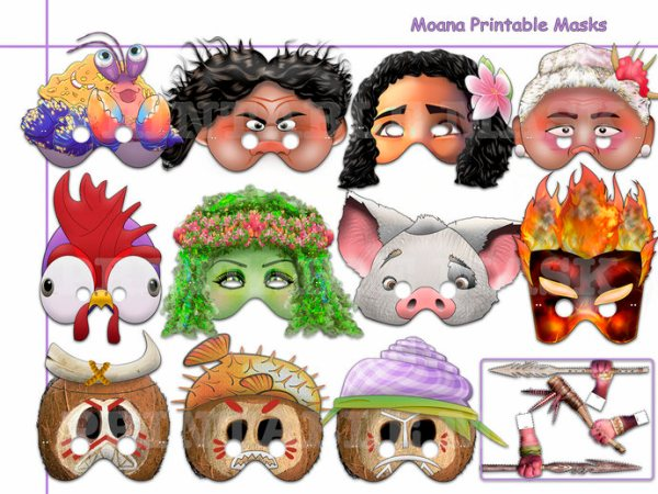 Unique Moana Printable Masks Collection by