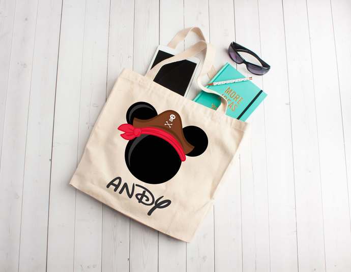 mickey inspired tote bag