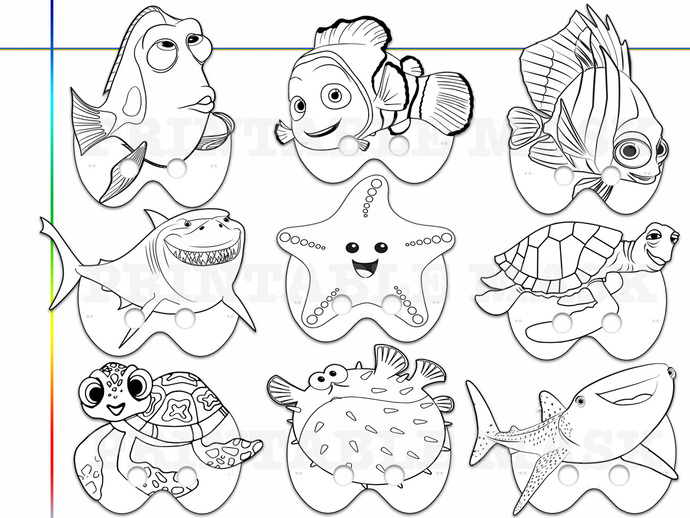 Unique Finding Nemo Dory Printable by HolidayPartyStar on