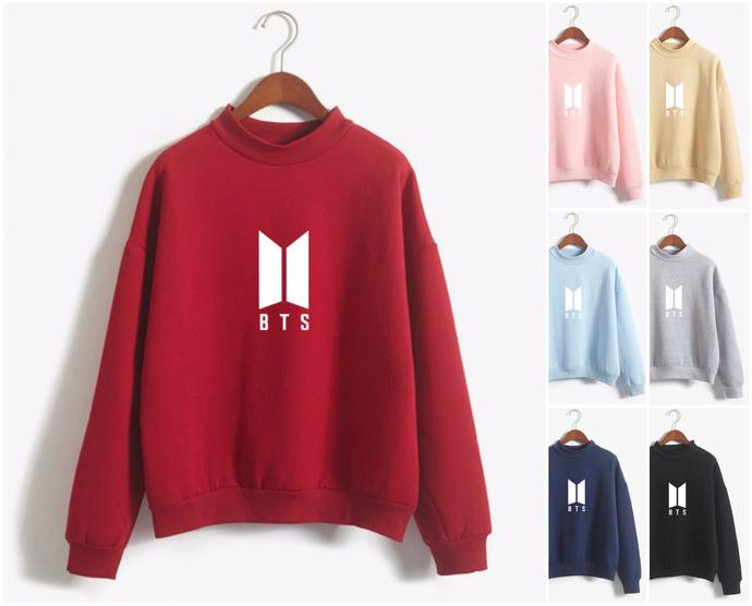 BTS logo Sweatshirt Bangtan boys kpop by