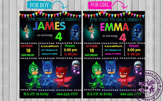 pj mask birthday invitation pj masks invitations pj masks birthday invitations pj masks invitations with photo pj mask birthday invites