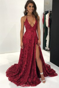Sexy Spaghetti Straps A-Line Red Prom Dresses,Cheap by ...