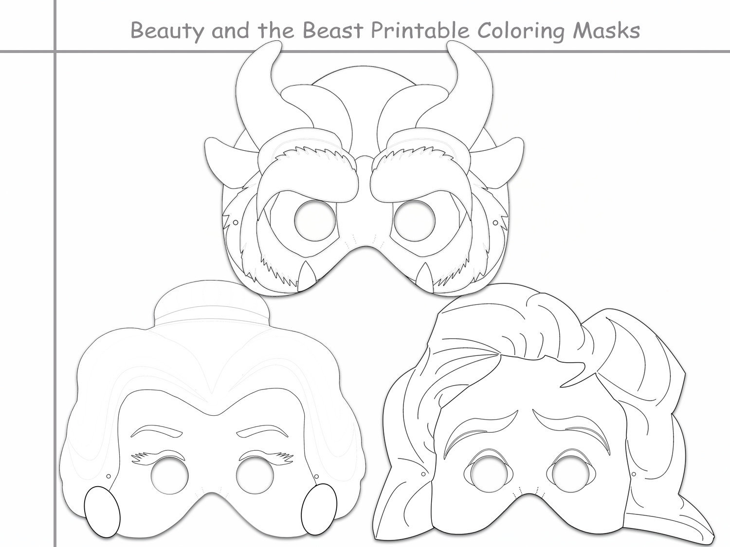 Coloring Beauty and the Beast Black and by