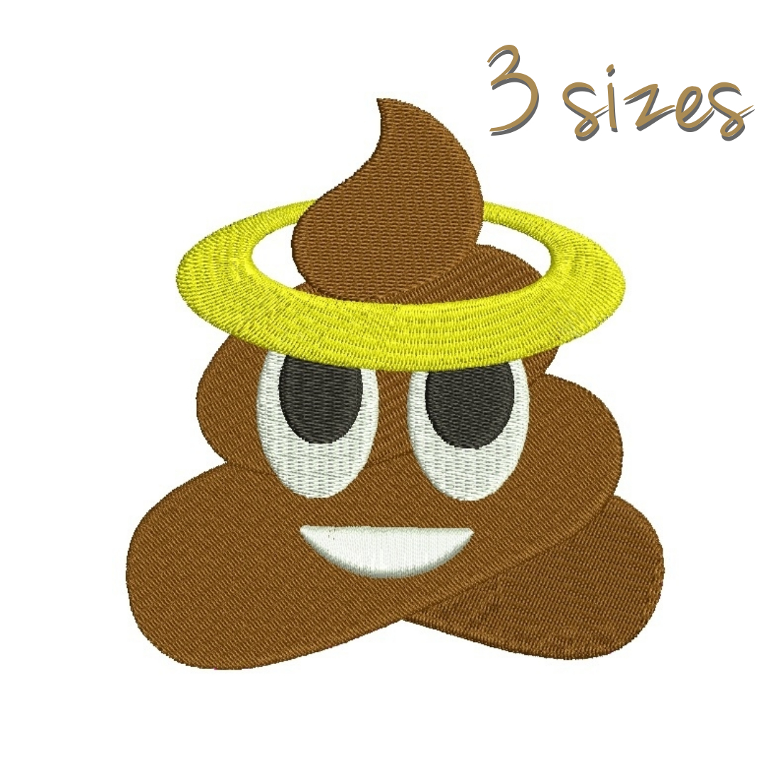 Poop Embroidery Design Emoji Pattern Glory By