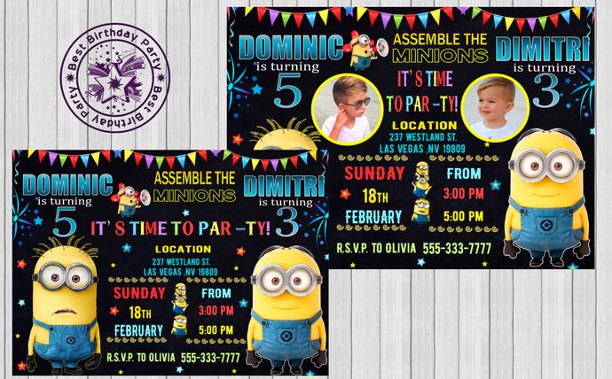 minion birthday invitations minions birthday invitation minions birthday party minions birthday card minions birthday party invitations
