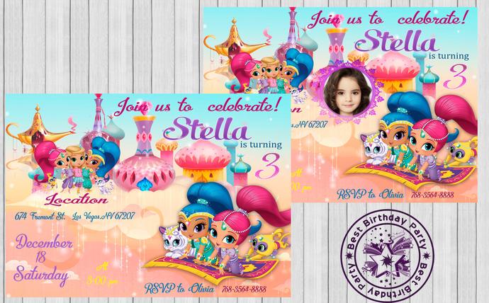 shimmer and shine birthday invitation shimmer and shine birthday shimmer and shine invitation shimmer and shine printables invite invite