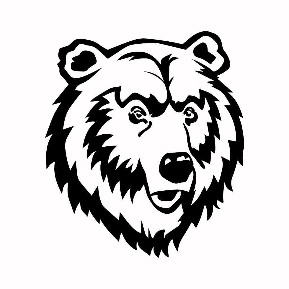 Grizzly Bear 03 graphics design SVG DXF PNG by