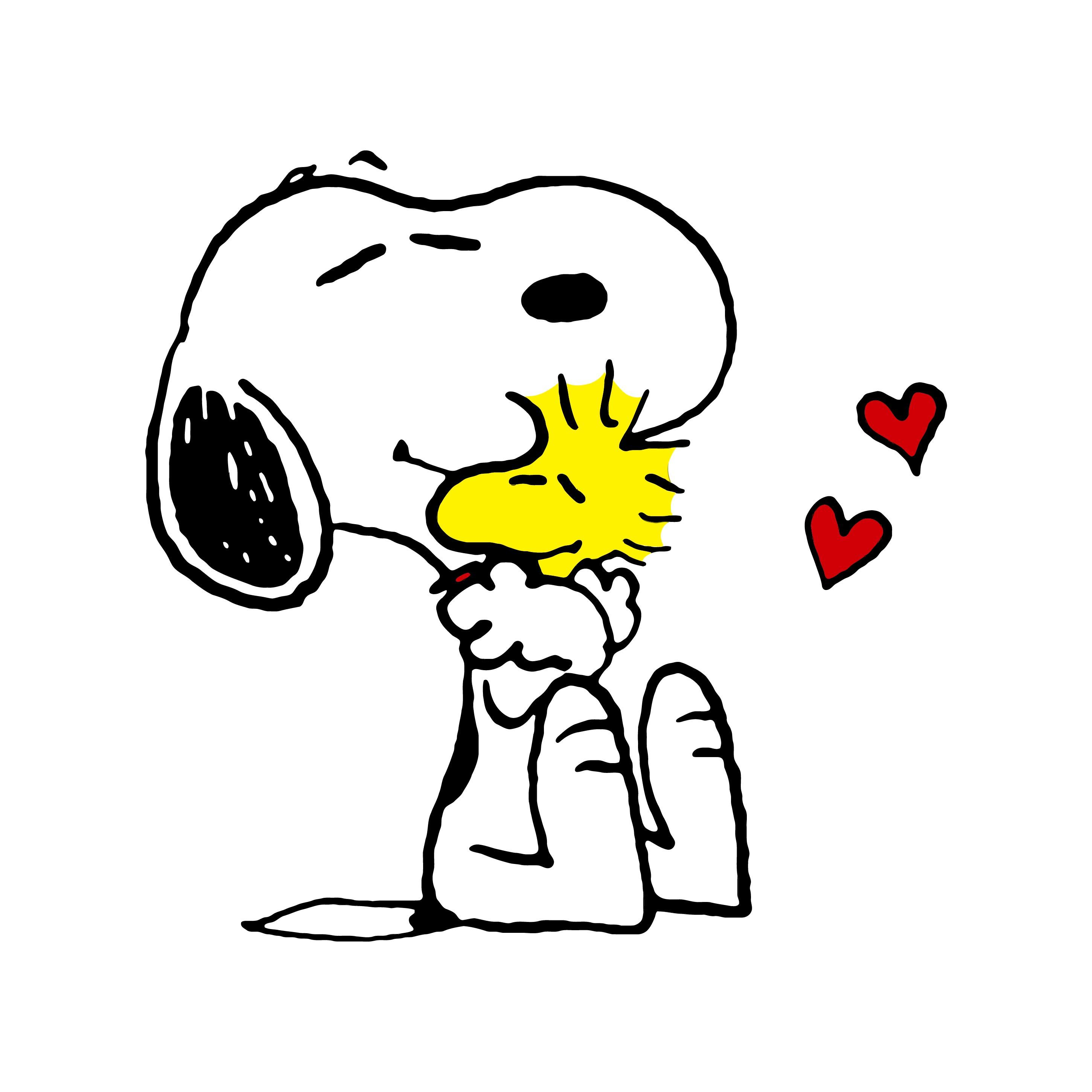 Snoopy And Woodstock Love 2 Graphics Design