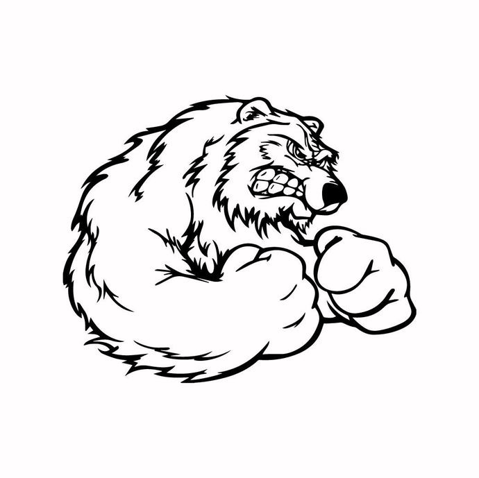Grizzly Bear 06 graphics design SVG DXF PNG by