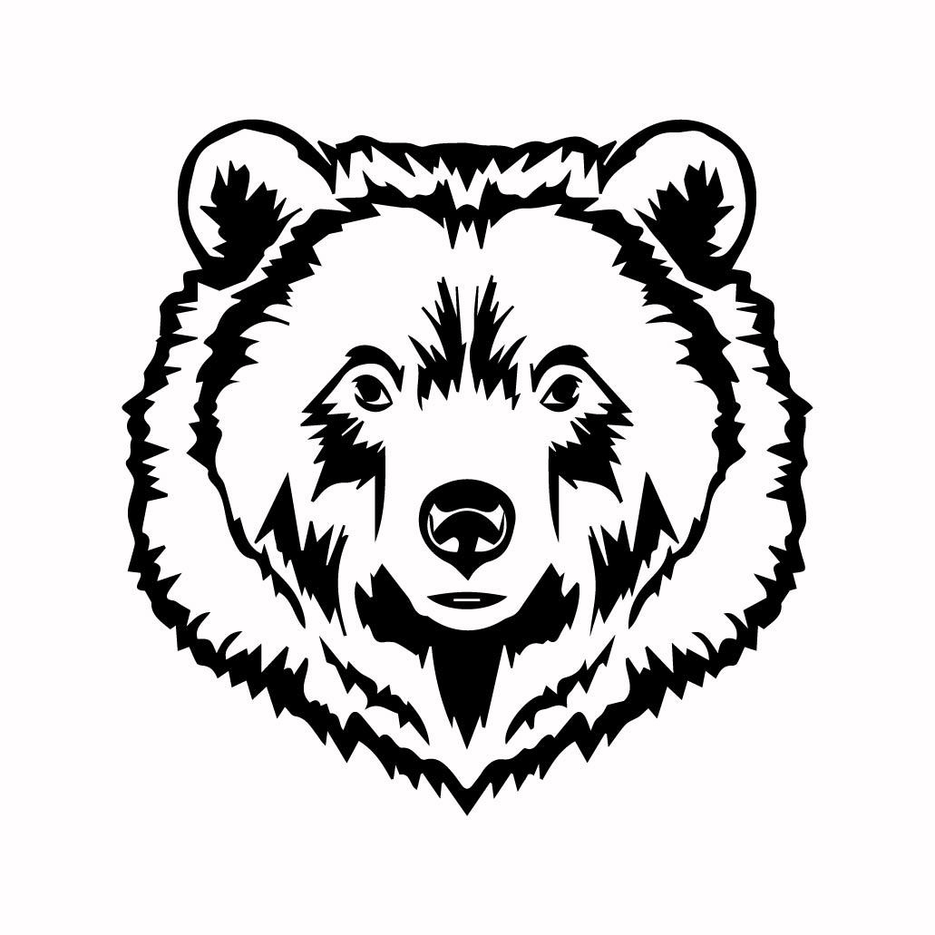 Grizzly Bear 10 graphics design SVG DXF PNG by