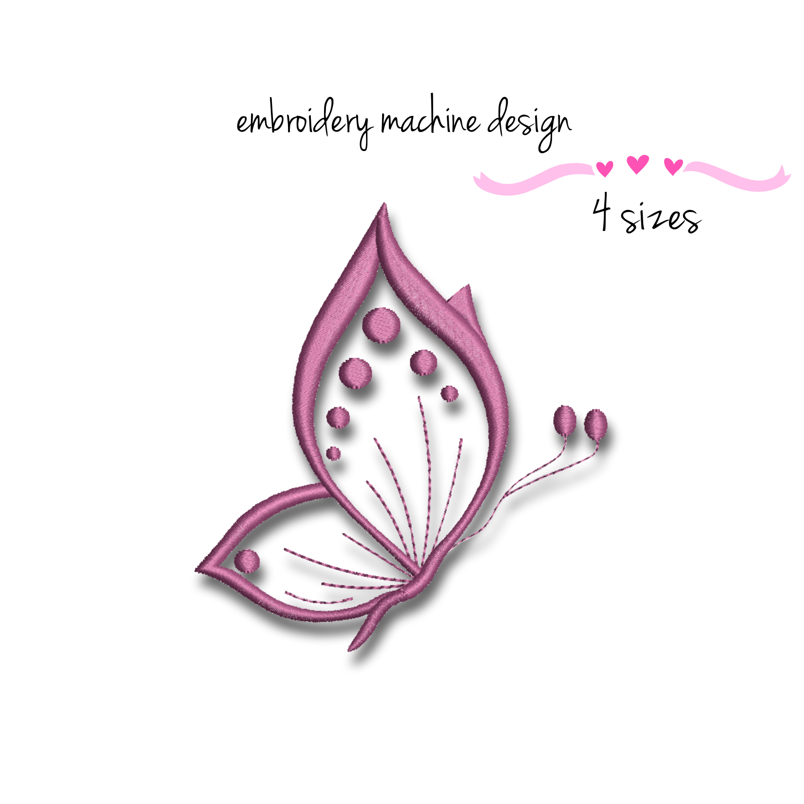 Butterfly Embroidery Machine Design Pes