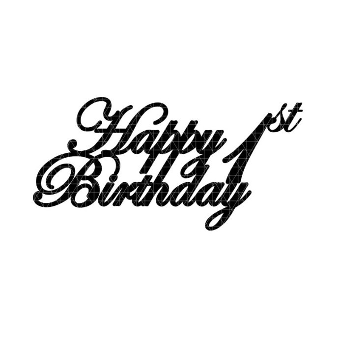 Download Happy 1st Birthday Cake Topper Svg Novocom Top