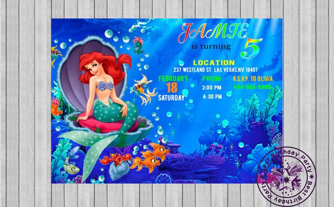 ariel birthday invitations ariel mermaid invitations ariel birthday party invitations ariel printable invitations ariel birthday party jpeg