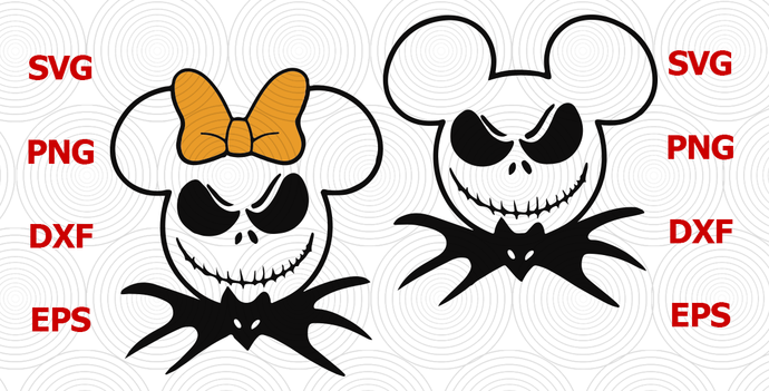 Whether you live for dressing up as something spooky or prefer halloween's sweeter side, our fun quiz will help you decide what you should be for halloween this year. Halloween Svg Jack Skellington Svg Mickey Jack By Digital4u On Zibbet