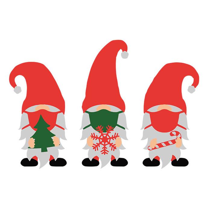 1441 Merry Christmas Gnome Svg