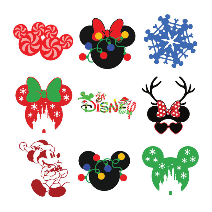 To get your free mickey mouse christmas png, simply click on the image below and i will. Mickey Christmas Svg Bundle Christmas Christmas By Bellashop On Zibbet