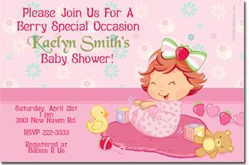 Strawberry Shortcake Girl Wallpaper Baby Strawberry Shortcake Baby Shower By Uprintinvitations