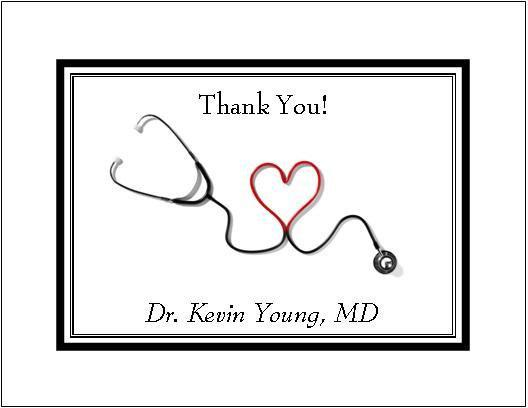 Medical Personalized Note or Thank You by thenotecardlady
