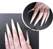 flat style pointed nails costume