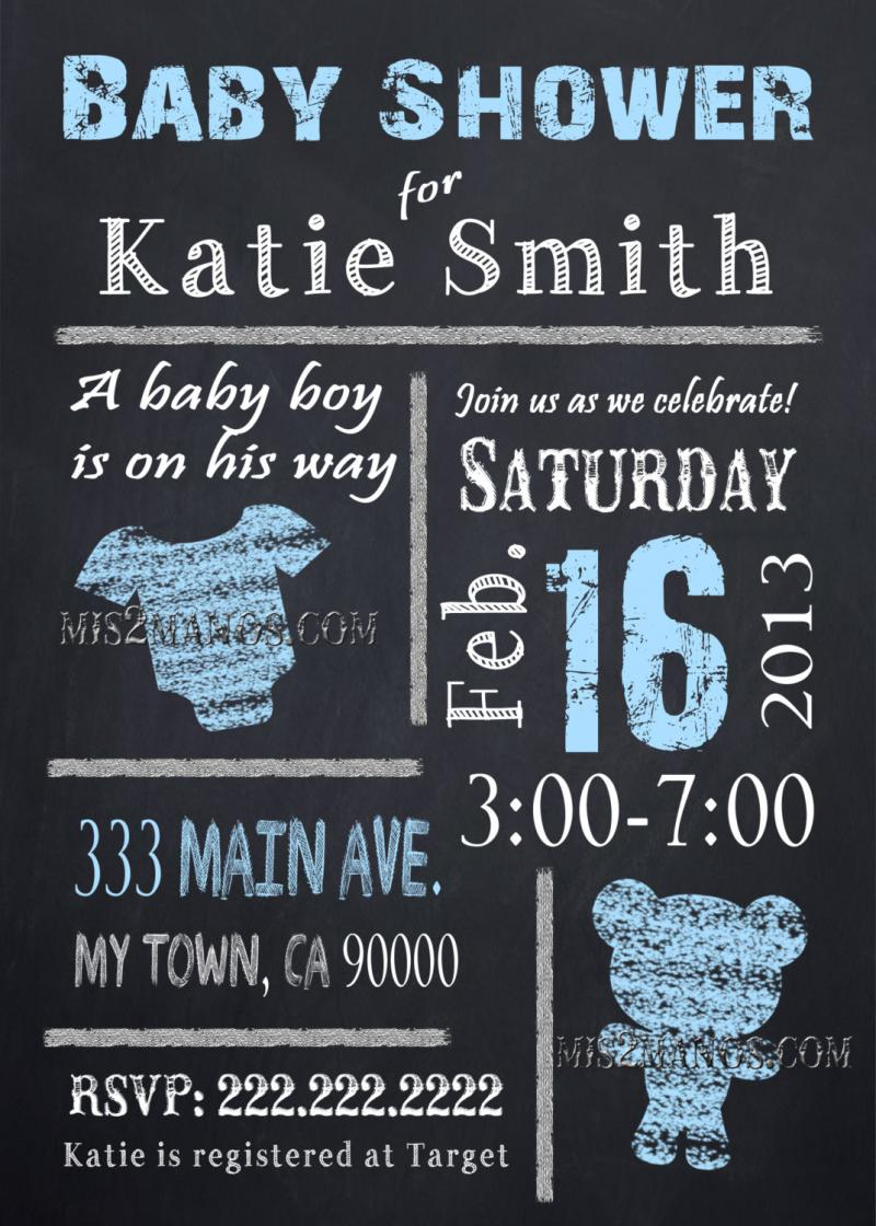 Personalized Baby Boy Shower Invitations