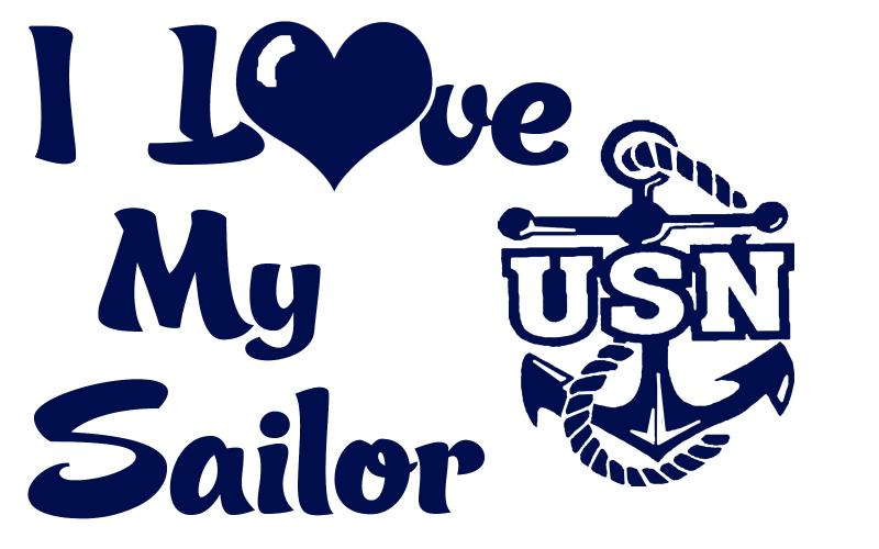 Download USN I Love My Sailor Vinyl Car Decal - US NAVY by ...