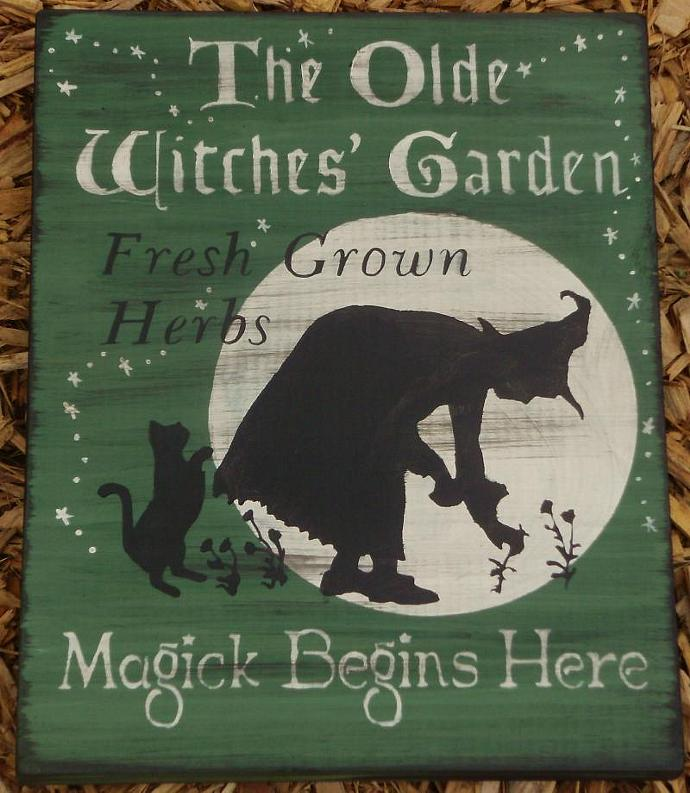 Witches Magic Garden Primitives witch by SleepyHollowPrims