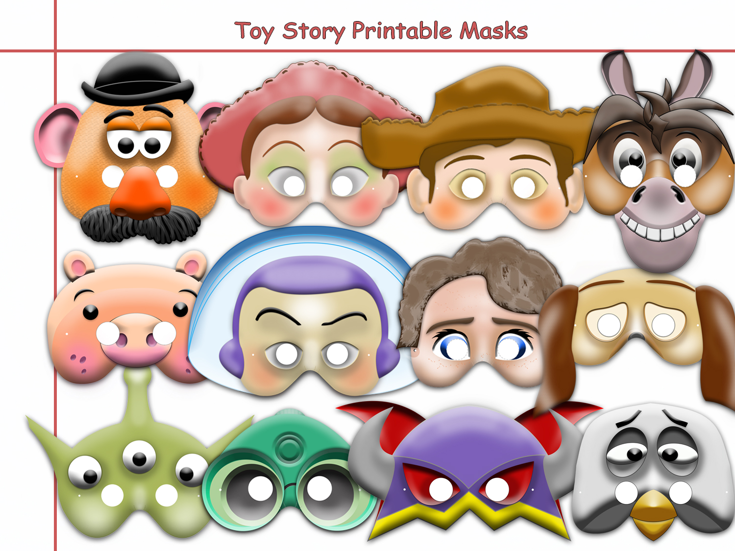 Unique Disney Toy Story Printable Masks