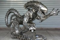 Large Alien metal sculpture table - metal table - by ...