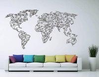 Polygonal / Geometrical world map Sticker Vinyl by ...