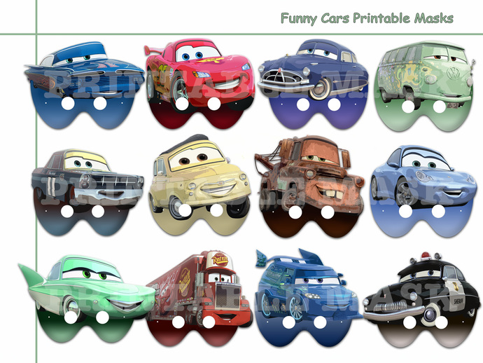 unique funny cars printable