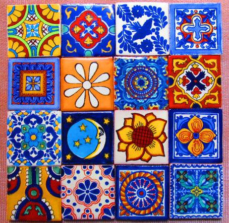 16 pcs Mexican Tile Talavera by Bega Mexican Supplies on
