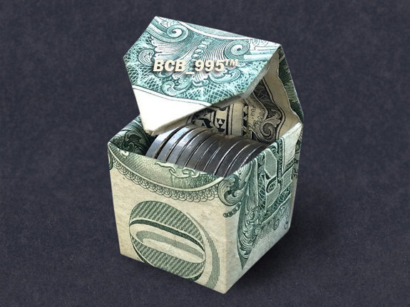 Step Origami Dollar Bill