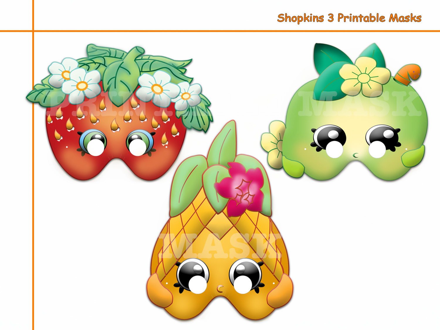 Unique Shopkins 3 Printable Masks Party By Holidaypartystar On