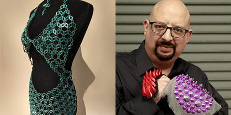 Photo of 3D printed outfit, photo of David Shorey